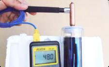 真空チューブとヒートパイプの集熱力実験