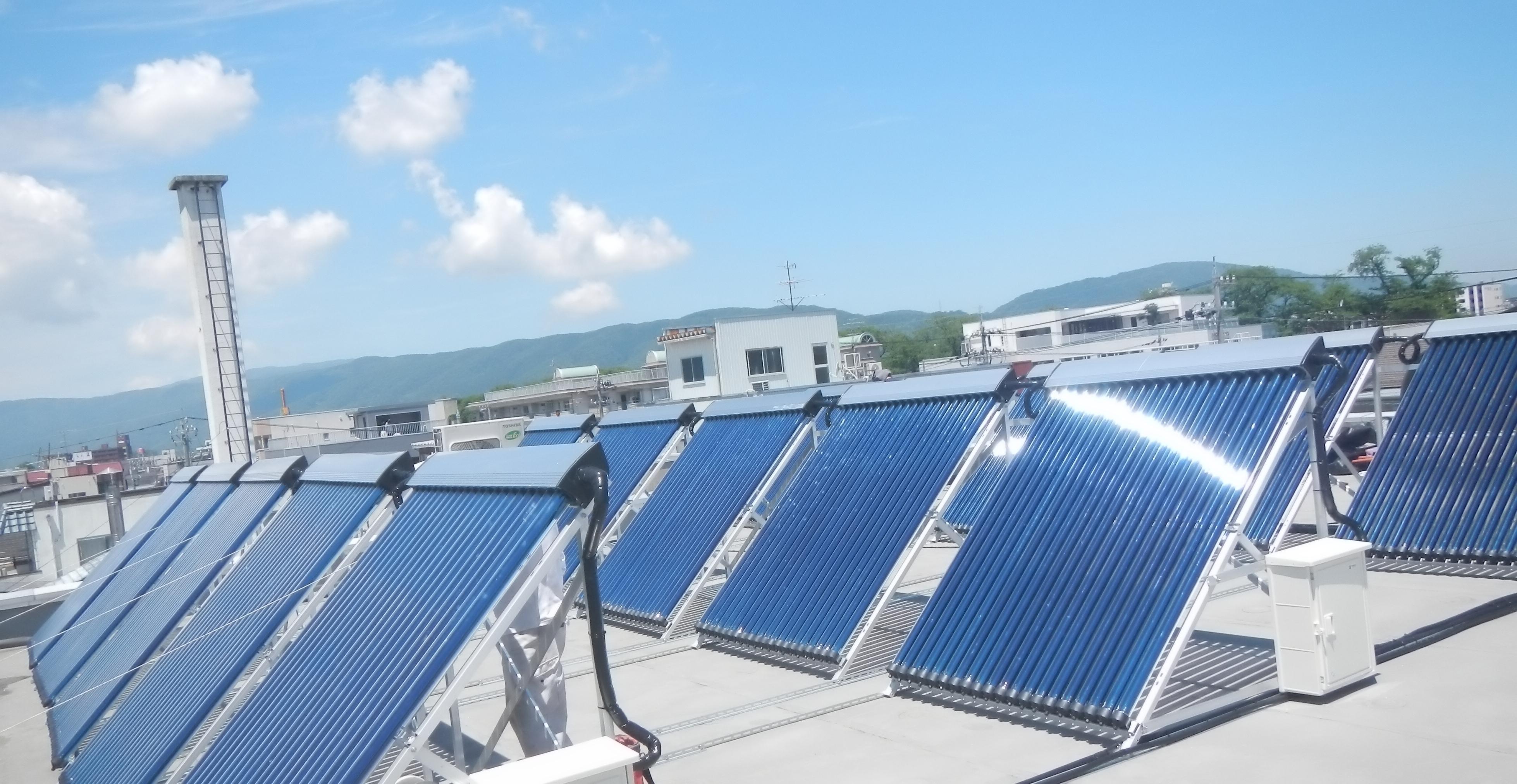 業務用太陽熱給湯システムの取付は、お問い合わせください。